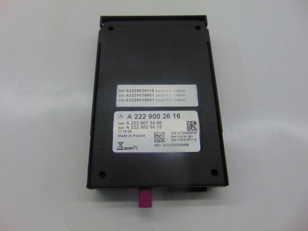 Блок управления телефоном Mercedes S W222 A2229002616
